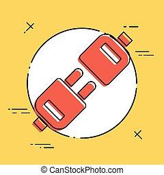 Plug - Flat minimal icon