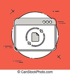 Udates window - Flat minimal icon
