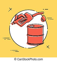 Oil prices - Vector flat icon