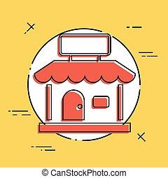 Shop symbol - Vector flat minimal icon