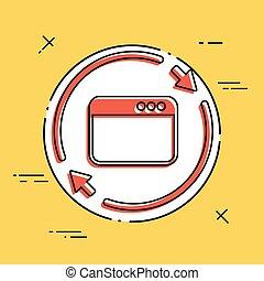 Web page refresh icon