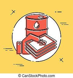 Oil price flat icon
