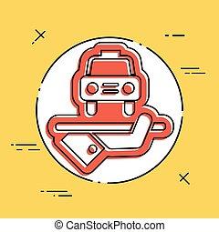 Hotel icon. Car service.