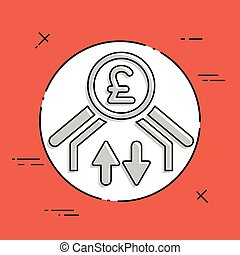 Money transfer icon - Sterling