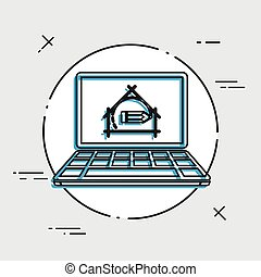 House design project - Vector flat icon