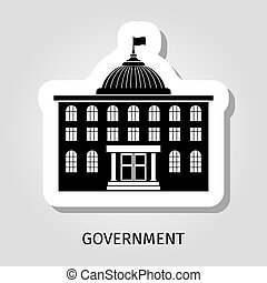 Black government building web sticker - Black government...