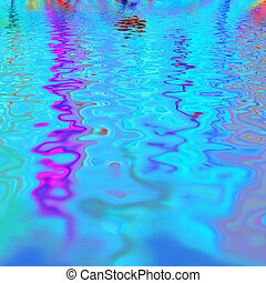 varicoloured water