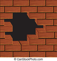 Volume wall from a brick.Vector