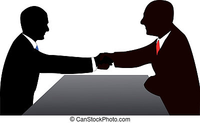 Hand shake - The contract is concluded, now it is possible...