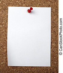 paper note background cork board - closeup of note paper on...