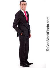 Stylish business man posing to the camera