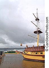 aging schooner
