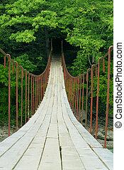 Suspension Bridge - The suspension bridge across the gorge...