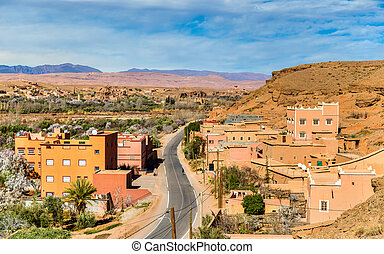 View of Kalaat M'Gouna, a town in Morocco - View of Kalaat...