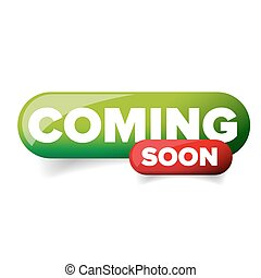 Coming soon vector button red