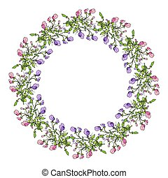 Sweet pea wreath - Sweet pea summer wreath with flowers....