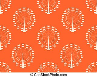 Seamless pattern with a ferris wheel. Vector illustration