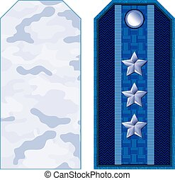 Blue Military Shoulder Straps - Blue military shoulder...