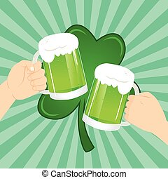 St Patrick Celebration Toasting Beer