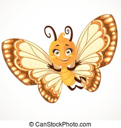 Cute little Butterfly with yellow and brown ornament wings...