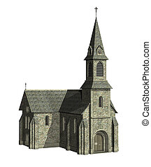 Church - Christian Church - 3D render