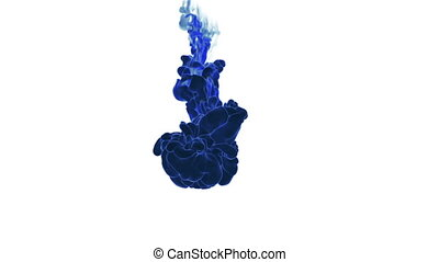 blue Fume or ink. Use it for background, transition or overlays. 3d motion graphics element VFX ink or smoke. Version 15