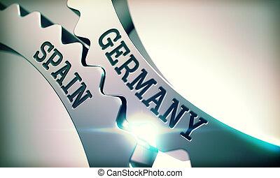 Germany Spain - Inscription on Mechanism of Metal Cogwheels....