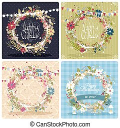 Birthday greeting cards - Collection of beautiful birthday...