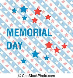 Memorial Day background, greeting card. Vector illustration