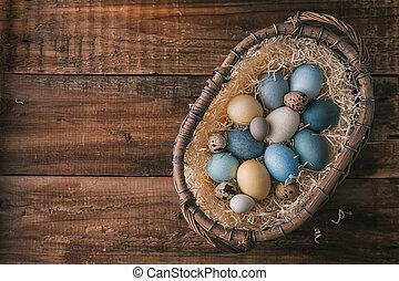 復活節, 蛋, 自然, 上色, 洗染