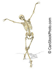 A Skeleton takes a Graceful Pose - A skeleton takes a...