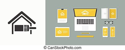 Vector illustration of single isolated home paint icon