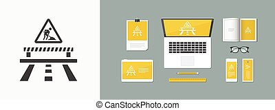 Vector illustration of single isolated work in progress icon