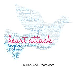 Heart Attack Word Cloud - Heart Attack word cloud on a white...