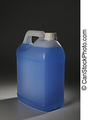 detergent - container with blue liduid