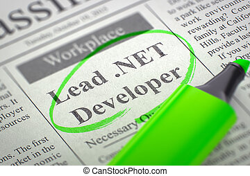 We are Hiring Lead .NET Developer. 3d. - Lead .NET Developer...