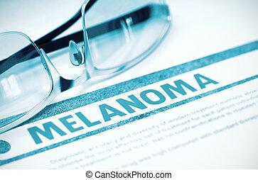 Diagnosis - Melanoma. Medical Concept. 3D Illustration. -...