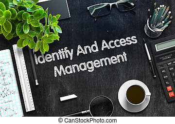 Identify And Access Management Concept. 3D render.
