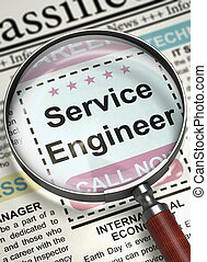 Service Engineer Wanted. 3D. - Illustration of Searching Job...