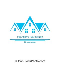 House Insurance Colourful Vector Illustration flat style -...