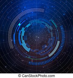 Sci-fi futuristic user interface, abstract technology...