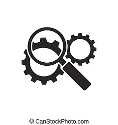 Search engine optimization icon on white background