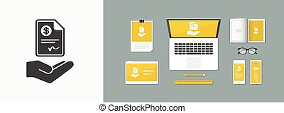 Payment document - Dollars - Vector icon
