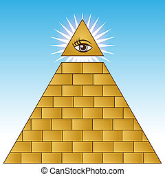 Golden Eye Financial Pyramid - An image of a golden eye...