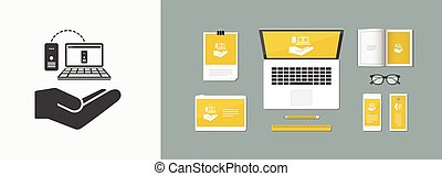 Service offer - Backup data - Minimal vector icon