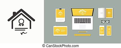 Home certifications services - Vector icon