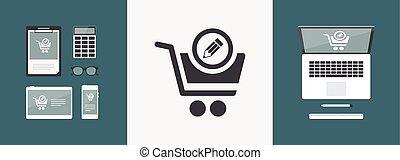 Shopping notes flat icon