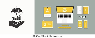 Protect your investment - Minimal vector icon