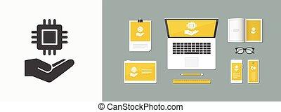 Processor symbol - Minimal vector icon