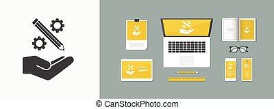 Creative design process icon